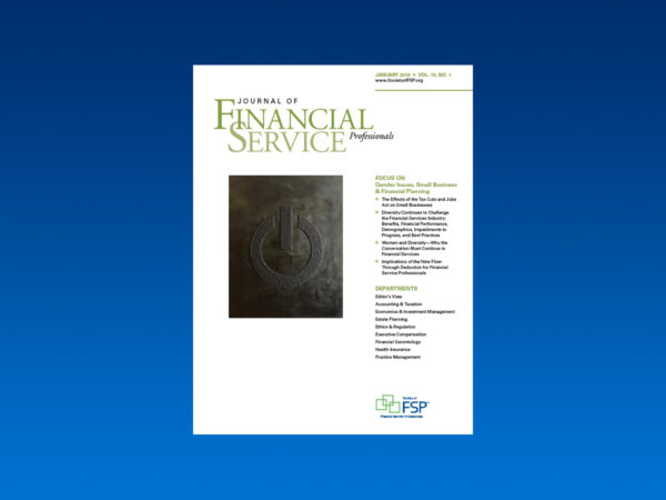 Journal January 2019 gender issues small business financial planning