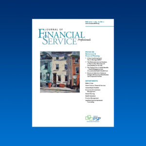 Journal May 2019 retirement financial planning