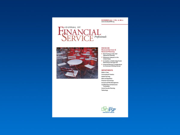 Journal November 2018 financial service financial planning