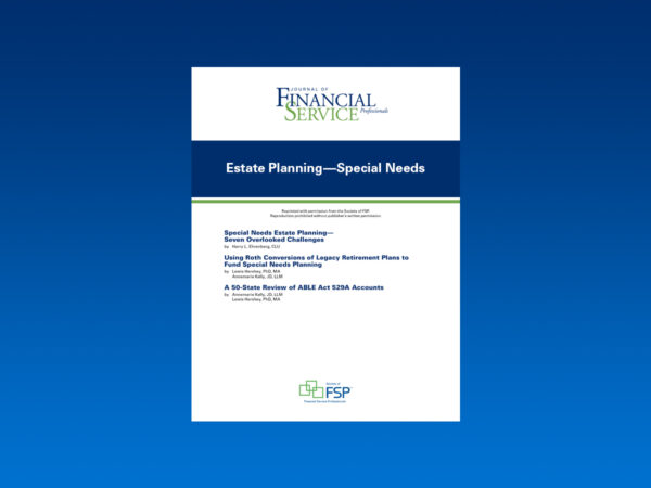 estate planning special needs