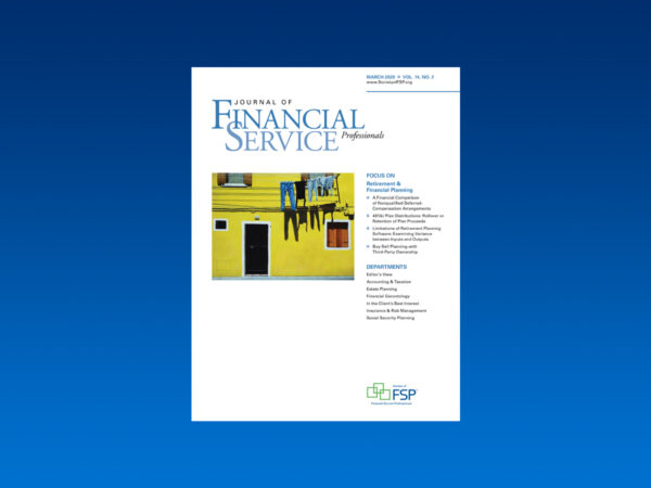 journal march 2020 retirement financial planning